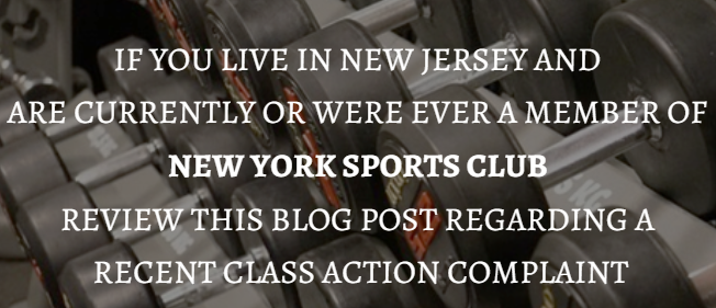 23 - CONSUMER FRAUD CLASS ACTION: NEW YORK SPORTS CLUBS