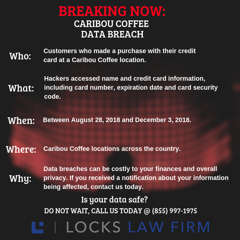 DATA BREACH ALERT 2 - Financial information at risk for customers of Caribou Coffee after Data Breach