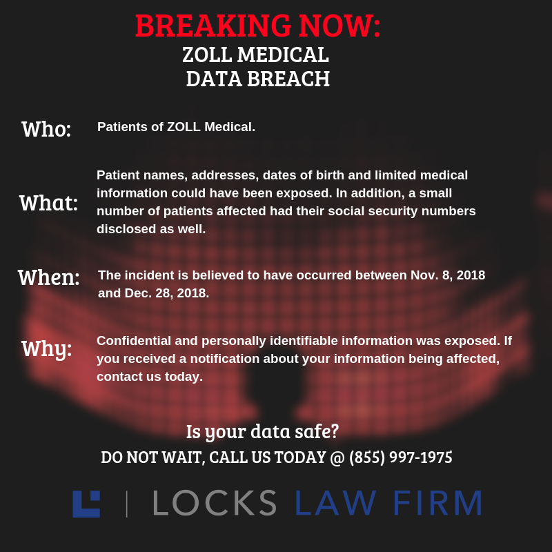 DATA BREACH ALERT 3 - Medical-Device and Software Maker ZOLL Medical Announces Data Breach