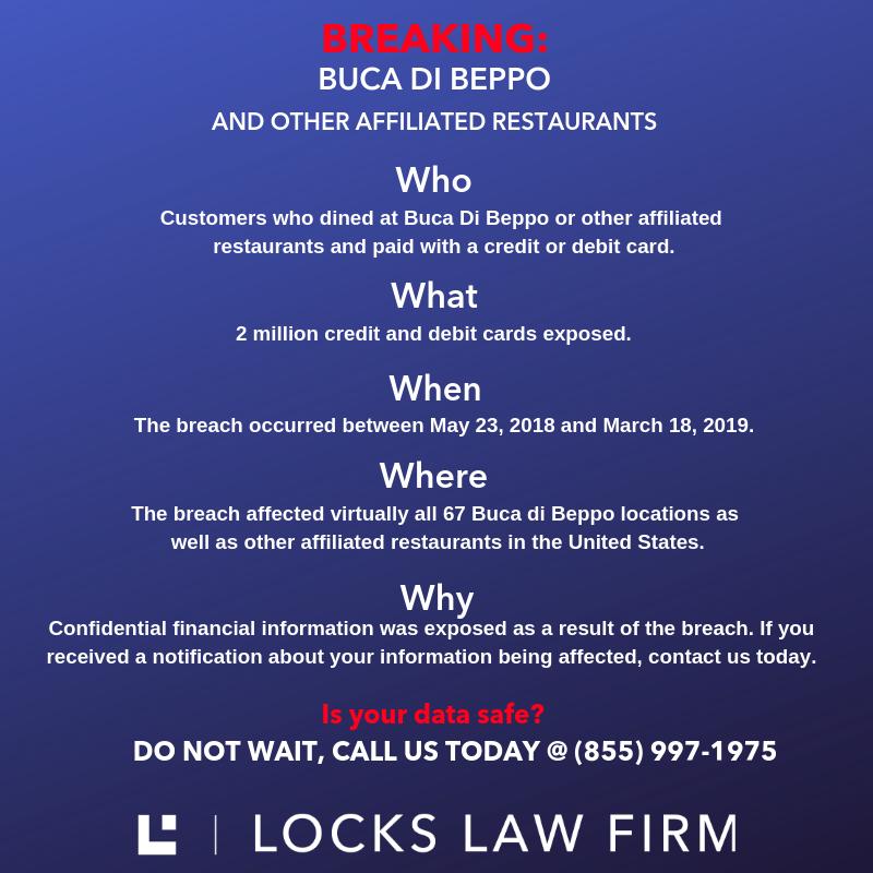 DATA BREACH BUCA DI BEPPO 1 - Buca Di Beppo Announces Nationwide Data Breach Exposing Customer Credit and Debit Card Information